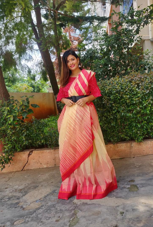 Anupa Sahu creates a funky look with a thick belt